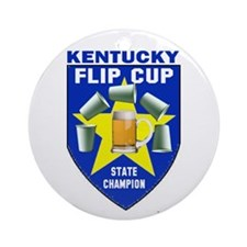 Kentucky Flip Cup State Champ Ornament (Round)