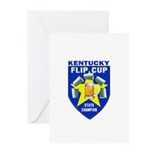 Kentucky Flip Cup State Champ Greeting Cards (Pk o