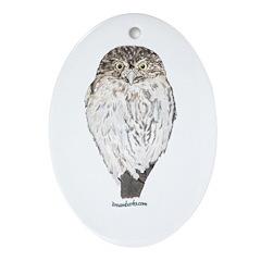 Owl Oval Ornament
