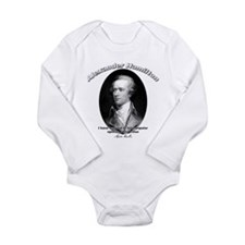 Cute Founding father Long Sleeve Infant Bodysuit