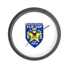 Louisiana Flip Cup State Cham Wall Clock