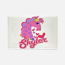 Skyler Loves Ponies Rectangle Magnet