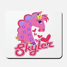 Skyler Loves Ponies Mousepad