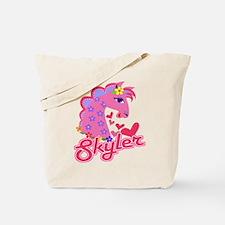 Skyler Loves Ponies Tote Bag