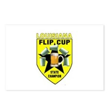 Louisiana Flip Cup State Cham Postcards (Package o