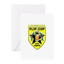 Louisiana Flip Cup State Cham Greeting Cards (Pk o