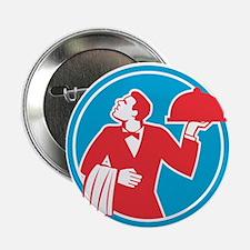 "Butler Serving Food Platter Circle Retro 2.25"" But"