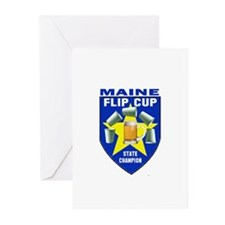 Maine Flip Cup State Champion Greeting Cards (Pk o