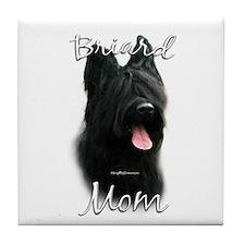 Briard Mom2 Tile Coaster
