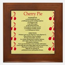 Cherry Pie Recipe Framed Tile