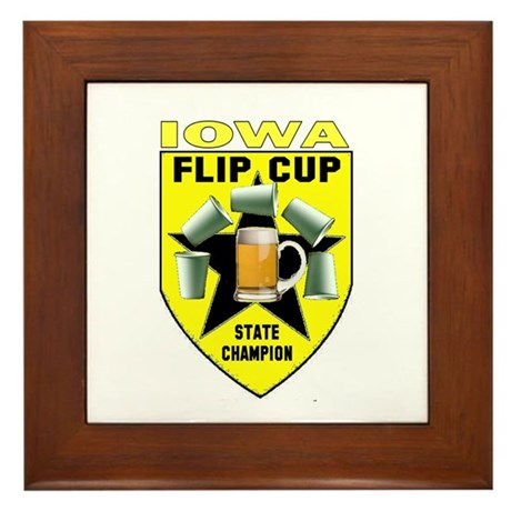 Iowa Flip Cup State Champion Framed Tile
