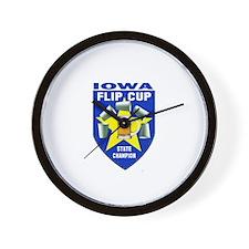 Iowa Flip Cup State Champion Wall Clock