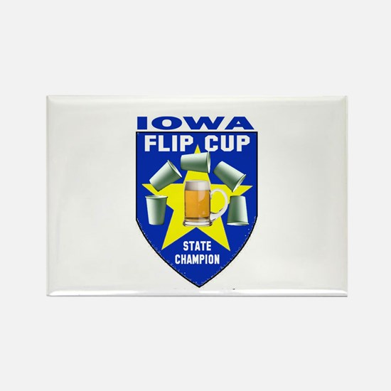 Iowa Flip Cup State Champion Rectangle Magnet