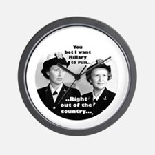 Anti Hillary Run Wall Clock