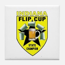Indiana Flip Cup State Champi Tile Coaster