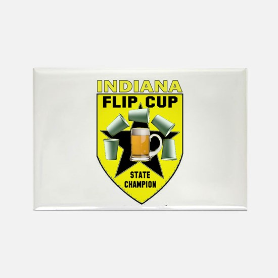Indiana Flip Cup State Champi Rectangle Magnet
