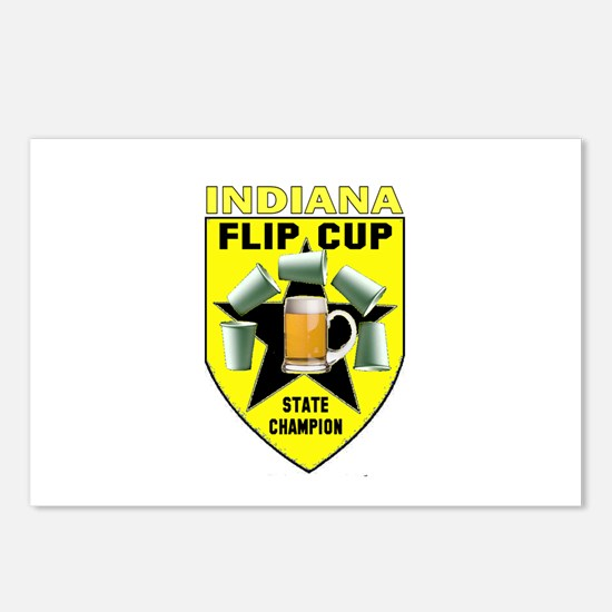 Indiana Flip Cup State Champi Postcards (Package o