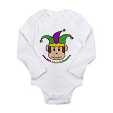 Cute Mardi gras Long Sleeve Infant Bodysuit