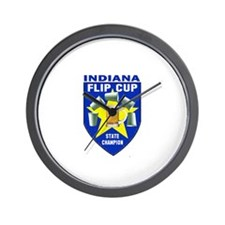Indiana Flip Cup State Champi Wall Clock