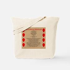 Strawberry Shortcake Recipe Tote Bag