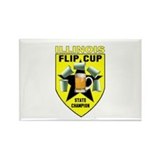 Illinois Flip Cup State Champ Rectangle Magnet
