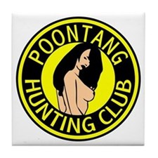 Poontang Hunting Club Tile Coaster