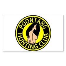 Poontang Hunting Club Rectangle Decal
