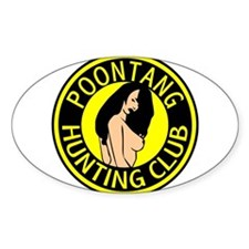 Poontang Hunting Club Oval Decal