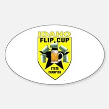 Idaho Flip Cup State Champion Oval Decal