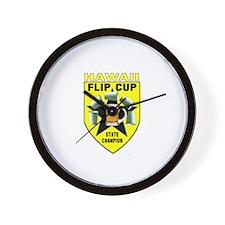 Hawaii Flip Cup State Champio Wall Clock