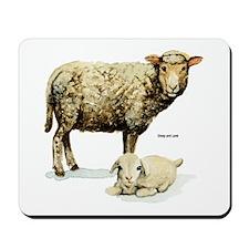 Sheep and Lamb Mousepad