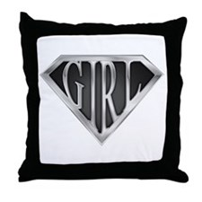 SuperGirl(Metal) Throw Pillow