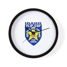 Idaho Flip Cup State Champion Wall Clock