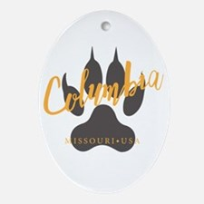 Columbia Missouri - Oval Ornament