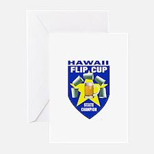 Hawaii Flip Cup State Champio Greeting Cards (Pk o