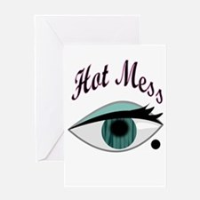 girly eye BFF hot mess Greeting Cards