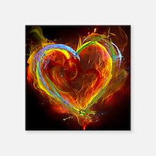 Two Hearts Burning Desire Sticker