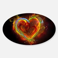 Two Hearts Burning Desire Decal