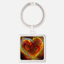 Two Hearts Burning Desire Keychains