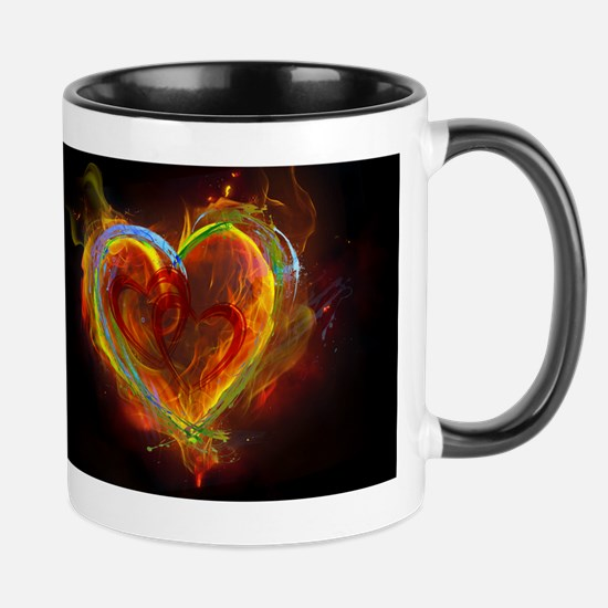 Two Hearts Burning Desire Mugs