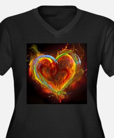 Two Hearts Burning Desire Plus Size T-Shirt