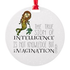 The True Sign of Intelligence is Imagination Ornam