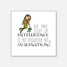 The True Sign of Intelligence is Imagination Stick