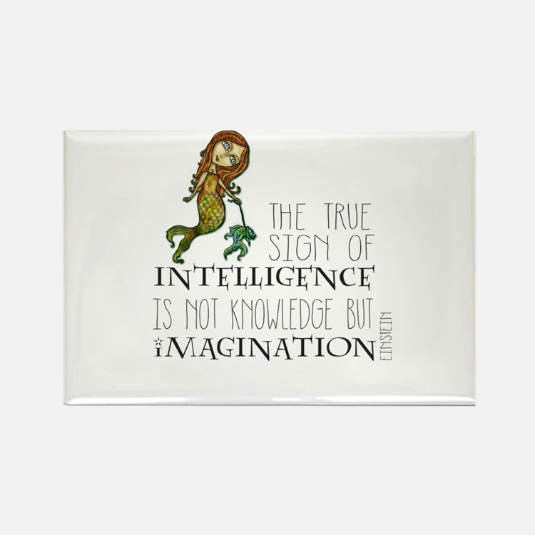 The True Sign of Intelligence is Imagination Magne
