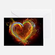 Cool Burning man Greeting Card