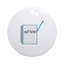 Author Notebook Round Ornament