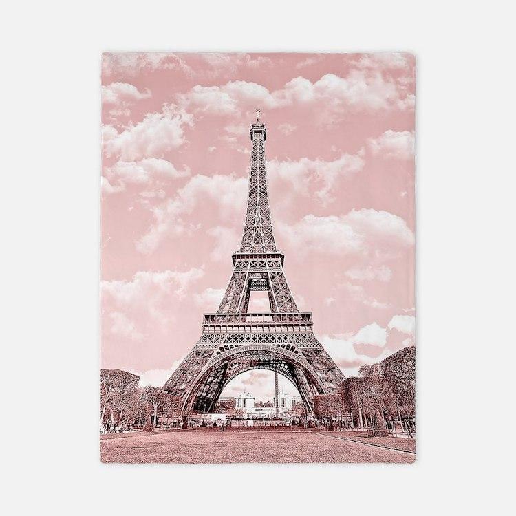 Eiffel Tower in pink, Paris, France Twin Duvet