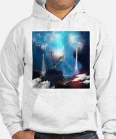 Dragon in a magical fantasy landscape Hoodie