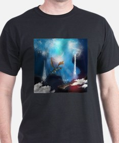 Dragon in a magical fantasy landscape T-Shirt