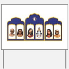 Standard Altar with 6 Gurus Yard Sign